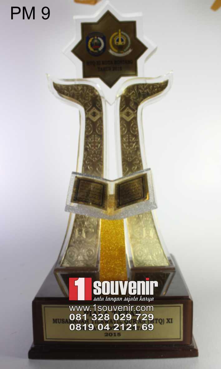 Piala Mtq Trophy Plakat Fiber  Berkualitas