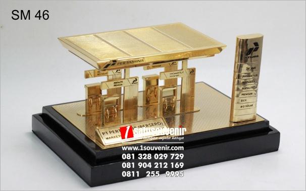 contoh souvenir miniatur SPBU
